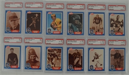 1988 Swell Football Collection of 12 PSA Graded Cards