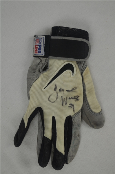 Jeromoe Woods Kansas City Chiefs Glove w/Heavy Use