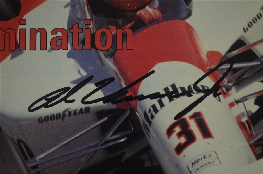 On Track Magazine Signed by Al Unser Jr.