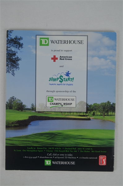 Tom Watson Autographed Golf Program
