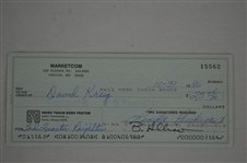 David Krieg Signed Royalty Check