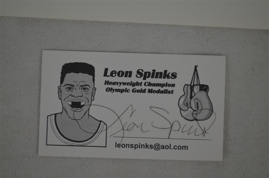Leon Spinks Autographed 8x10 Photos & Business Card