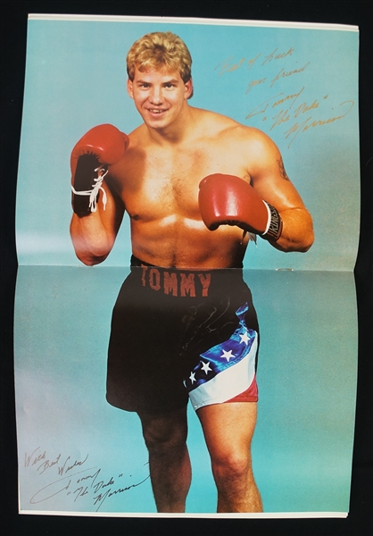 Tommy Morrison 1989 Autographed Boxing Program