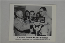 Carmen Basilio & Gene Fullmer Dual Signed 8x10 Photo