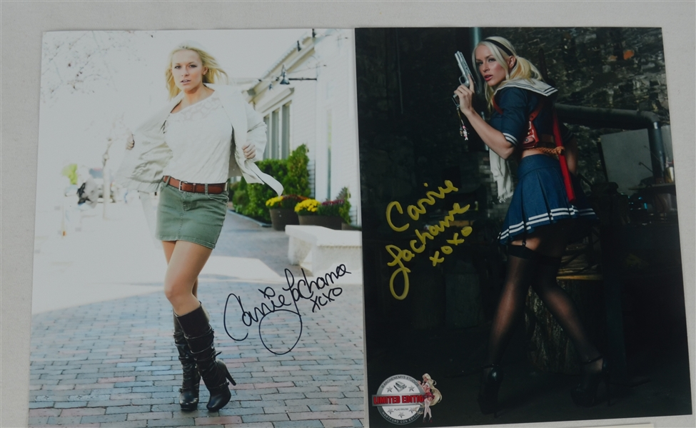 Carrie La Chance Lot of 2 Autographed 8x10 Photos