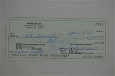 Pete Incaviglia Signed Royalty Check