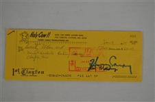 Harry Carry 1971 Signed Personal Check