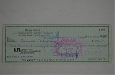 David Keith 1979 Signed Check