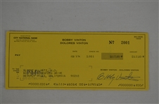 Bobby Vinton 1974 Signed Check