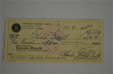 Bubba Smith 1983 Signed Check