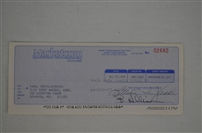 Karl Mecklenberg Signed Royalty Check