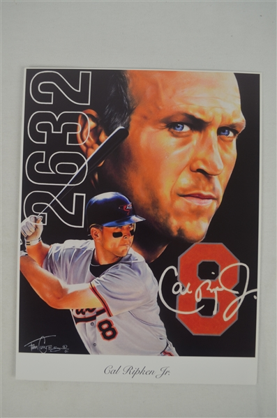 Cal Ripken Jr. Lot of 3 Tim Cortes Fine Art Lithographs