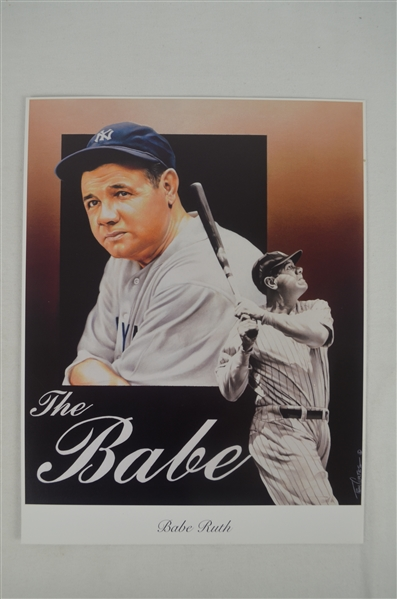 Babe Ruth Lot of 3 Tim Cortes Fine Art Lithographs