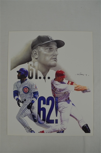 Roger Maris & Sammy Sosa Lot of 5 Tim Cortes Fine Art Lithographs