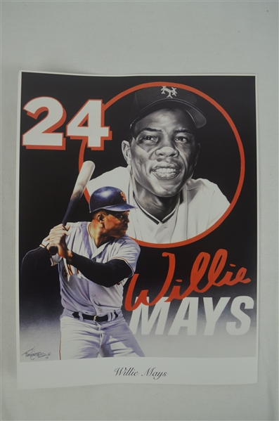 Willie Mays Lot of 3 Tim Cortes Fine Art Lithographs