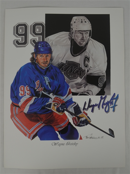 Wayne Gretzky Lot of 3 Tim Cortes Fine Art Lithographs