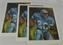 Barry Sanders Lot of 3 Tim Cortes Fine Art Lithographs