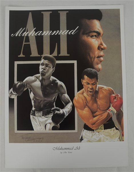 Muhammad Ali Lot of 3 Tim Cortes Fine Art Lithographs