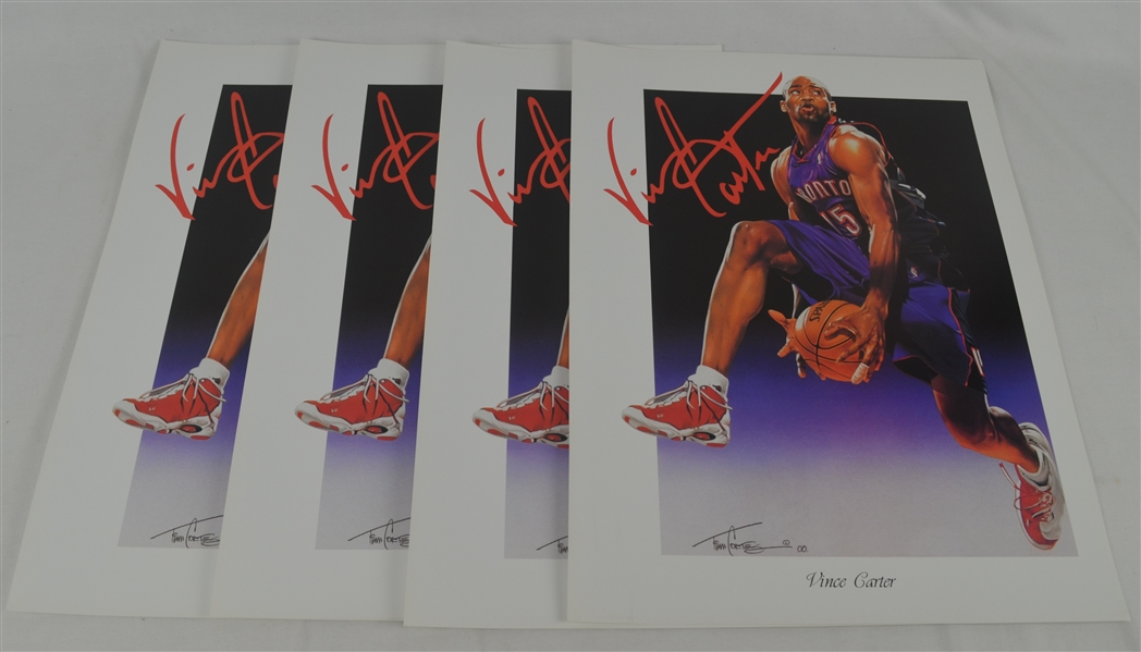 Vince Carter Lot of 4 Tim Cortes Fine Art Lithographs