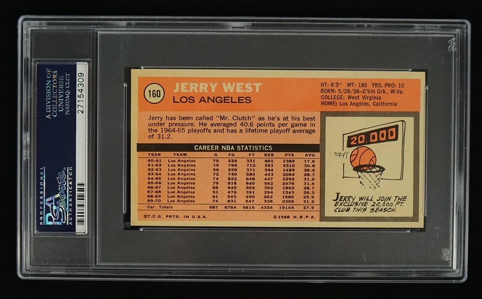 Jerry West 1970 Topps Card #160 PSA 9 Mint