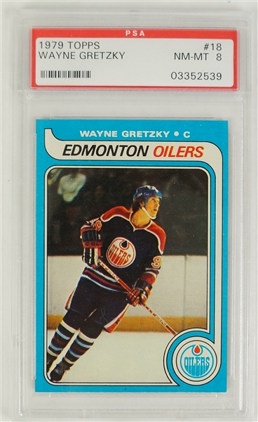 Wayne Gretzky 1979 Topps Rookie Card #18 PSA 8 NM-MT