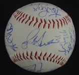 Columbus Clippers 1989 Team Signed Baseball w/Bernie Williams