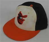 Cal Ripken c. 1985-87 Baltimore Orioles Professional Model Hat w/Heavy Use
