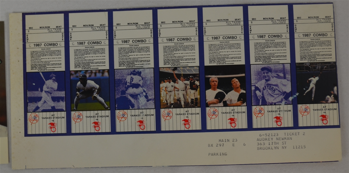 New York Yankees Tickets & Cards