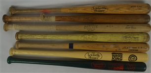 Collection of 7 Baseball Bats w/Derek Jeter