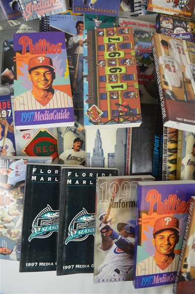 Collection of 1997 Baseball Media Guides