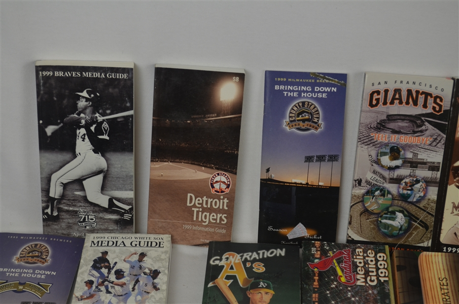 Collection of 1999 Baseball Media Guides