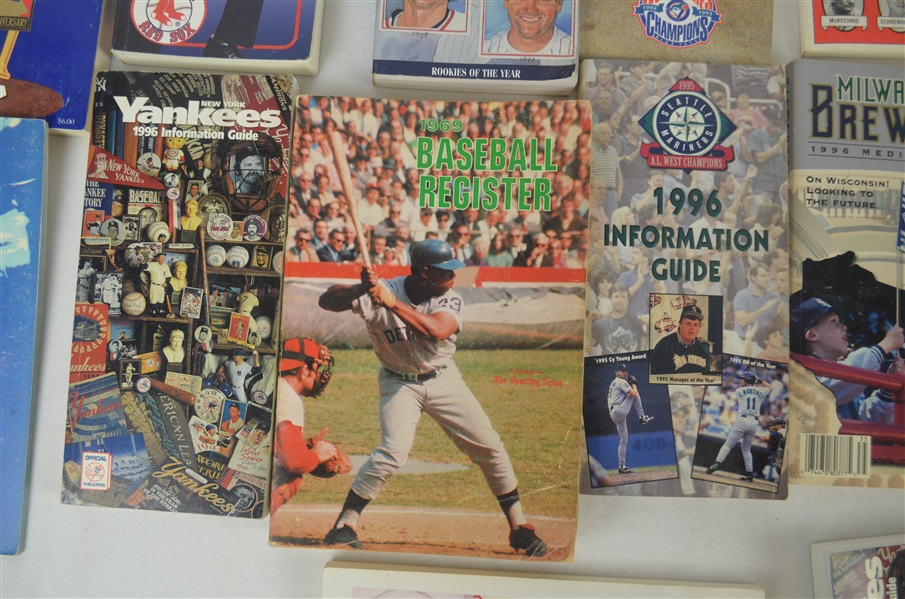 Collection of 1970's-1990's Baseball Media Guides