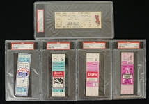 California Angels Lot of 5 Full PSA Graded Tickets