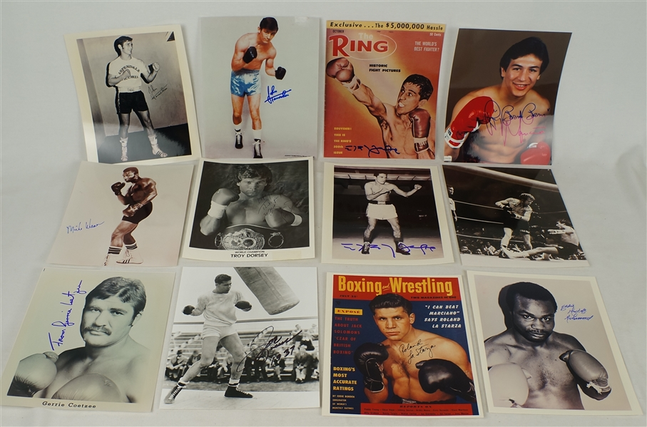 Boxing Collection of 26 Autographed Photos w/Mancini