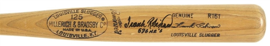 Frank Robinson c. 1977-79 Professional Model Bat w/Heavy Use
