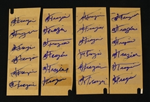 Joe Frazier Lot of 24 Cut Autographs