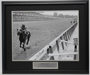 Secretariat Triple Crown Display signed by Ron Turcotte