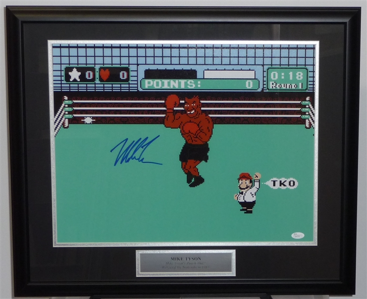 Mike Tyson Signed PUNCH OUT  Display