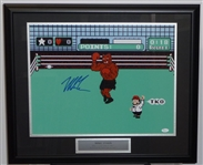 "Mike Tyson Signed ""PUNCH OUT""  Display"
