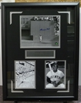 "WILLIE MAYS SIGNED ""THE CATCH"" Display"