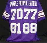 PURPLE PEOPLE EATERS SIGNED CUSTOM JERSEY With PPE Hologram