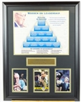 John Wooden Signed Card display and Pyramid of Succes