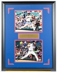 Ervin Santana and Jose Berrios Signed Twins Display