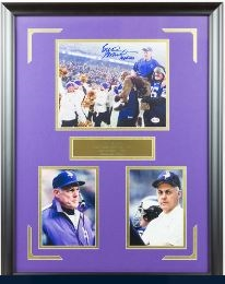 Bud Grant Signed Photo Display