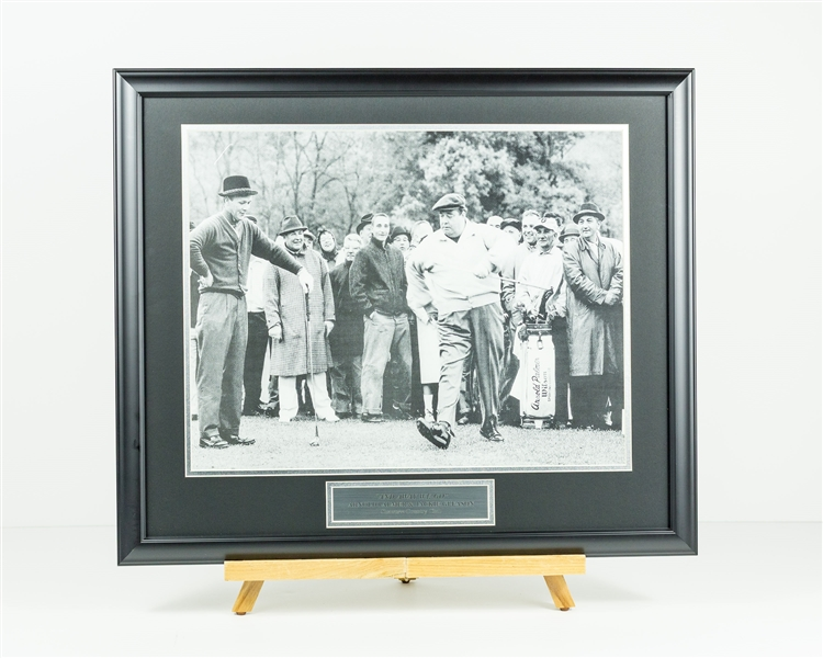 Jackie Gleason & Arnold Palmer Golf Photo
