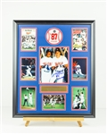 Kent Hrbek Signed 87 World Series Display