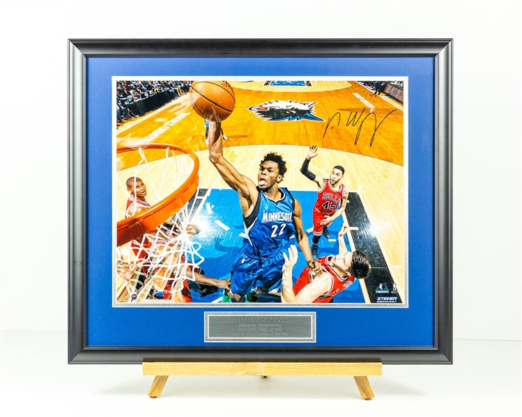 Andrew Wiggins Signed Display