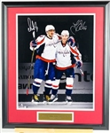Alex Ovechkin & T.J. Oshie Signed Capitals Display