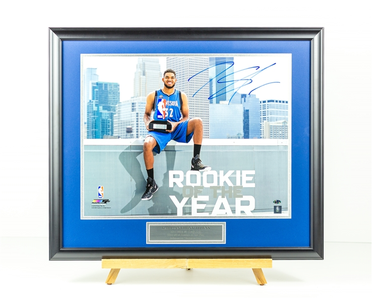 Karl-Anthony Towns Signed Rookie of the Year Display