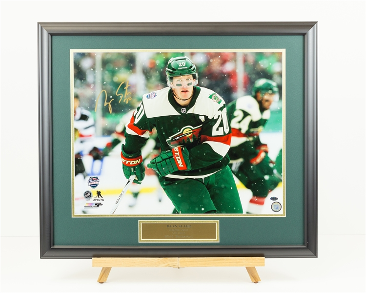 Ryan Suter Signed Stadium Series Display